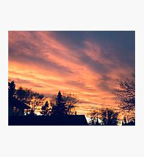 Sunset review  Photographic Print