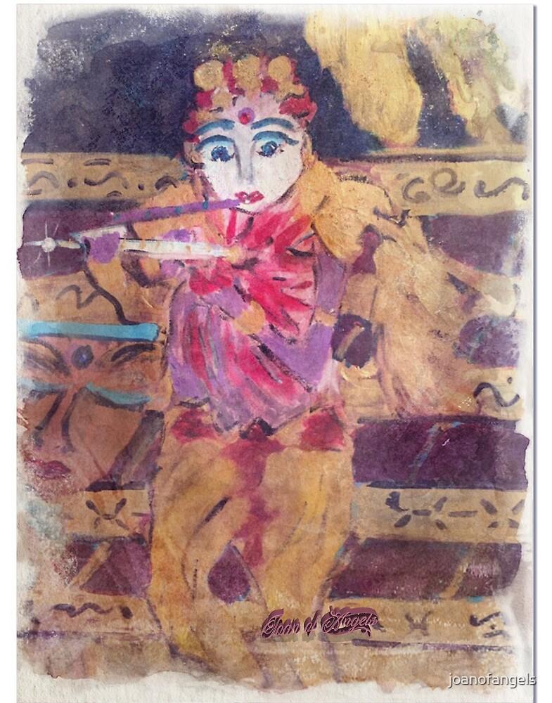 Krishna Playing the Magic Flute by joanofangels