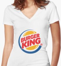 Burger King Women's Fitted V-Neck T-Shirt