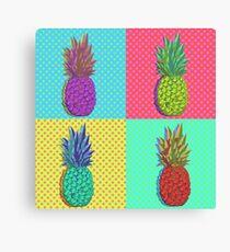 Ananas-Pop-Art Leinwanddruck