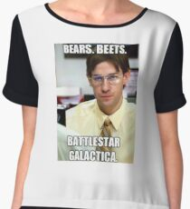 Bear, Beets    BattleStar Galactica Chiffon Top