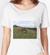 Scottish Highland Cattle Cow and Calf 1470 Women's Relaxed Fit T-Shirt