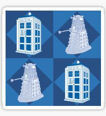 Dctor Who - Dalek & Tardis Sticker