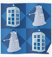 Dctor Who - Dalek & Tardis Poster