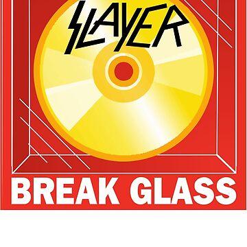 in case of hippie break glass sticker by bernys