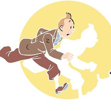 Tintin and snowy t-shirt tshirt by bernys