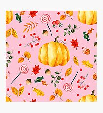 Pumpkin and sweets Photographic Print