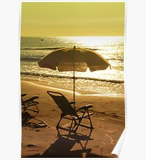 Beach chair on the beach Poster