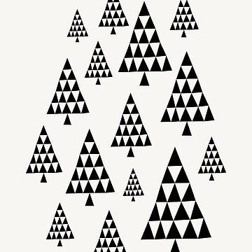 Geometric Christmas Trees 1 by Ivaleksa