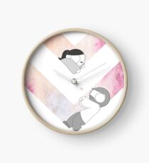 Reloj Gráfico de acuarela - Rosa
