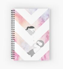 Watercolor Graphic - Pink Spiral Notebook