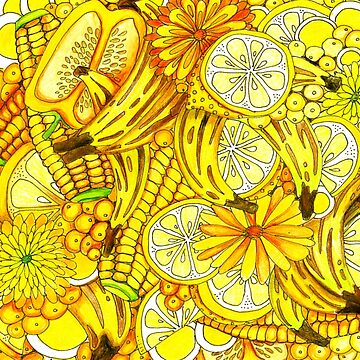 Abundant Harvest of All Things Yellow by cheriedirksen