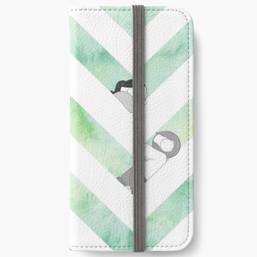 Watercolor Graphic - Green iPhone Wallet