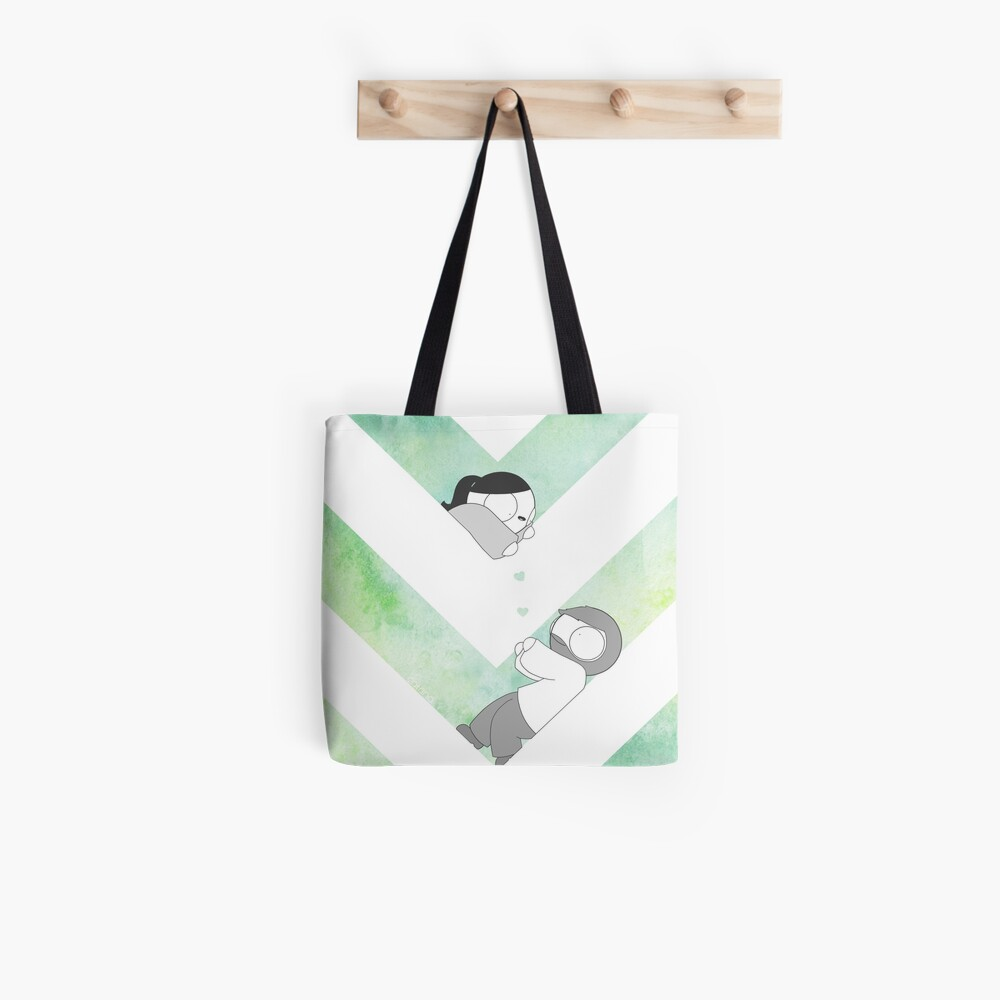 Aquarell Grafik - Grün Tote Bag