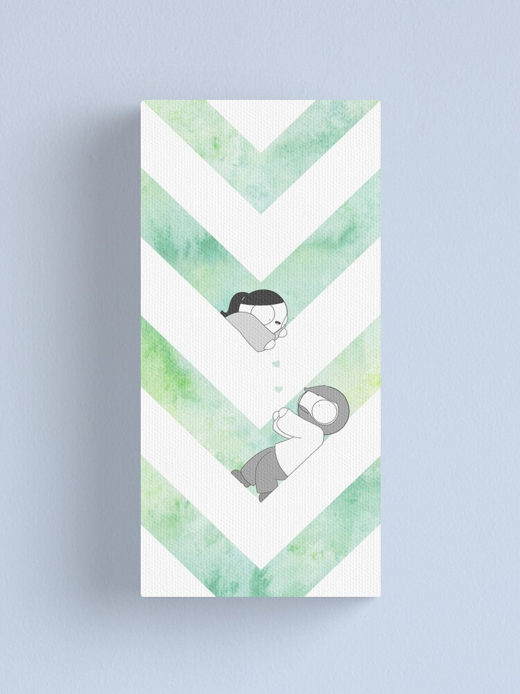 Alternate view of Watercolor Graphic - Green Canvas Print