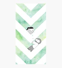 Watercolor Graphic - Green Photographic Print