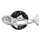 Weißer Hai-Astronaut von Agustin  Servin