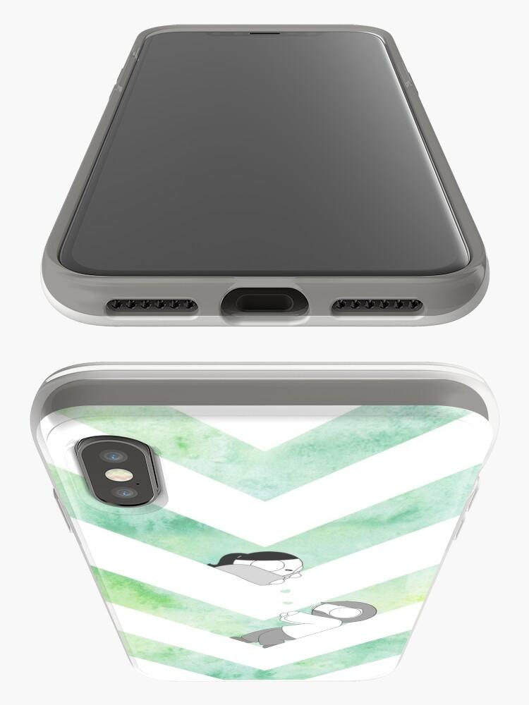 Alternative Ansicht von Aquarell Grafik - Grün iPhone-Hülle & Cover