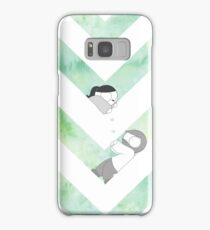 Watercolor Graphic - Green Samsung Galaxy Case/Skin
