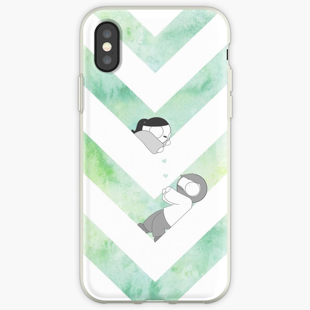 Aquarell Grafik - Grün iPhone-Hülle & Cover
