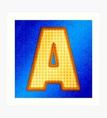 Retro Modern Alphabet - Letter A Art Print