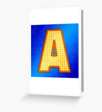 Retro Modern Alphabet - Letter A Greeting Card
