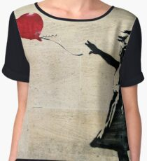 Banksy's Girl with a Red Balloon III Chiffon Top