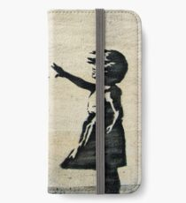 Banksy's Girl with a Red Balloon III iPhone Wallet/Case/Skin
