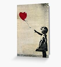 Banksy's Girl with a Red Balloon III Greeting Card