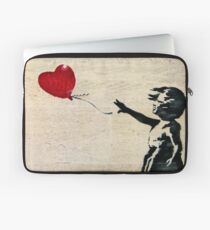 Banksy's Girl with a Red Balloon III Laptop Sleeve