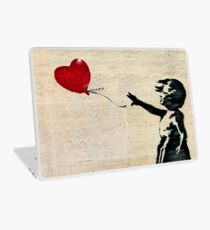 Banksy's Girl with a Red Balloon III Laptop Skin