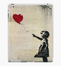 Banksy's Girl with a Red Balloon III iPad Case/Skin