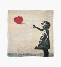 Banksy's Girl with a Red Balloon III Scarf
