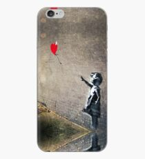 Banksy's Girl with a Red Balloon II iPhone Case