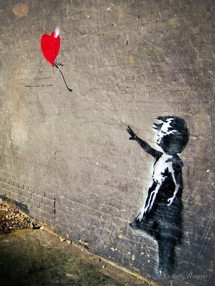 Banksy's Girl with a Red Balloon II by Ludwig Wagner