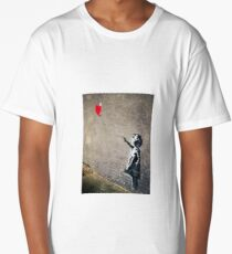 Banksy's Girl with a Red Balloon II Long T-Shirt