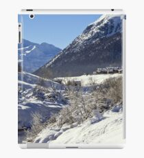 A white landscape iPad Case/Skin