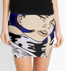 roy lichtenstein a drowning girl framed print Mini Skirt