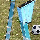 Papierkorb auf dem Fussballplatz by emilys