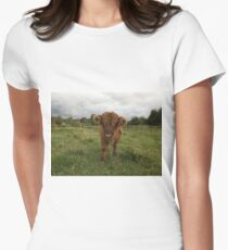 Scottish Highland Cattle Calf 1539 Women's Fitted T-Shirt