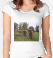 Scottish Highland Cattle Calves 1543 Women's Fitted Scoop T-Shirt
