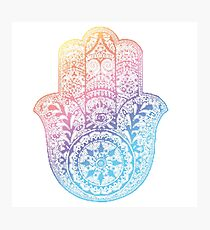 Rainbow Hamsa Photographic Print