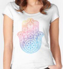 Rainbow Hamsa Women's Fitted Scoop T-Shirt