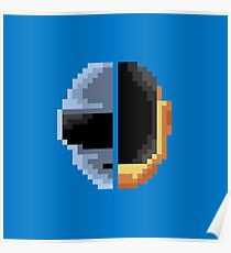 Daft Punk Pixelart Poster