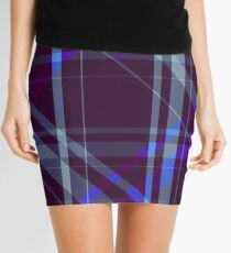 Diagonal Purple Mini Skirt