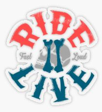 Ride 2 Live Transparenter Sticker