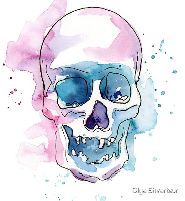 Abstract Colorful Skull by Olga Shvartsur