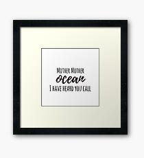 Jimmy Buffett - Mother Ocean Framed Print