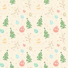 Simple christmas vector pattern by lauryngrafica