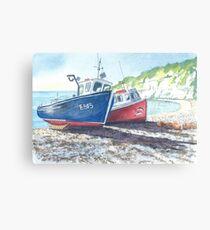 Boats at Beer Canvas Print